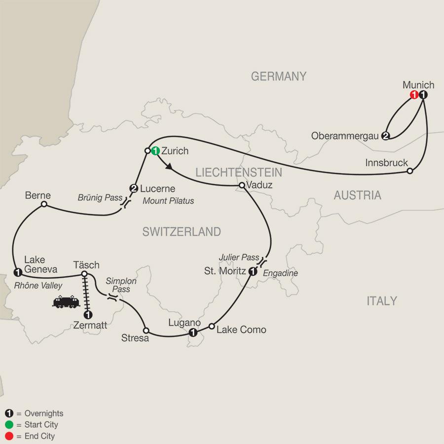 The Best of Switzerland with Oberammergau (ZGO2020)