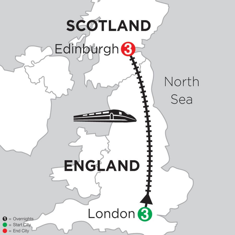 3 Nights London and 3 Nights Edinburgh (DE2018)