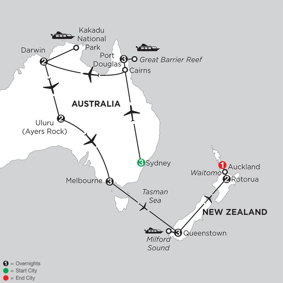Wonders of Australia with Queenstown and Rotorua (IPDG2018)