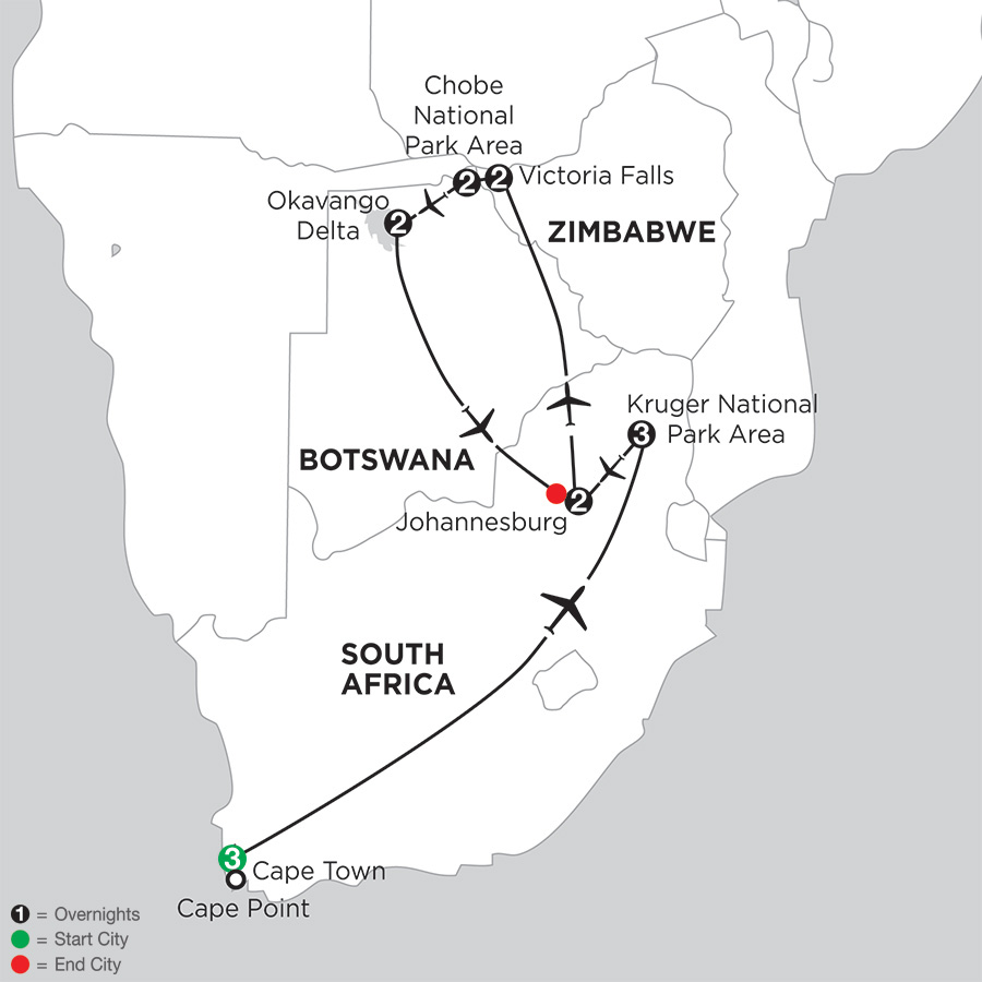South African Sojourn with Botswana and Victoria Falls (IQSE2018)