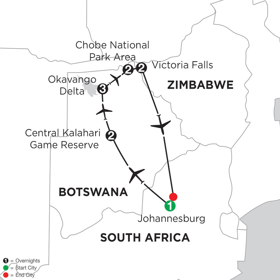 Wilds of Botswana and Victoria Falls (IQZ2018)