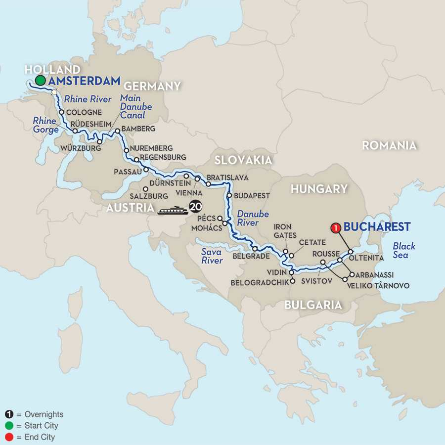 Rhine Main Danube River Cruises Avalon Iconic Europe - Germany map of rivers