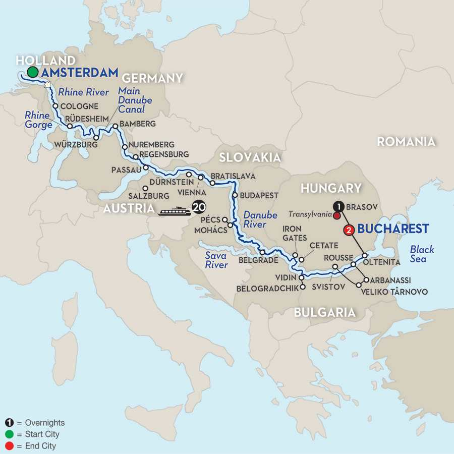 Iconic Rivers of Europe – The Rhine, Main & Danube with Transylvania – Eastbound