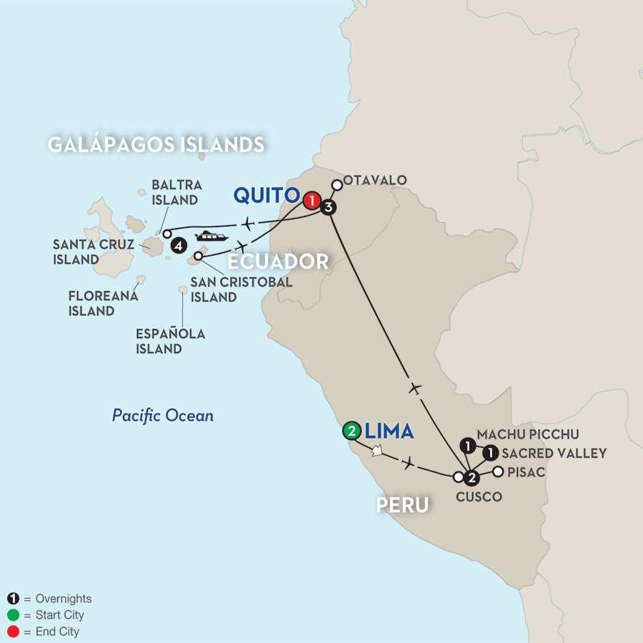 Discover the Galápagos & Peru