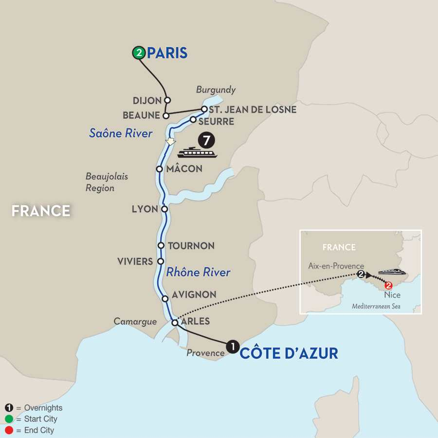 Burgundy & Provence with Aix-en-Provence & Nice – Southbound