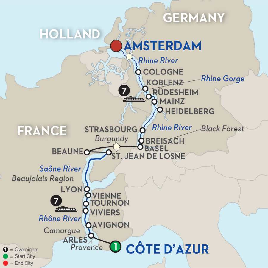 Rhine  Rhone River Cruise  Avalon Waterways