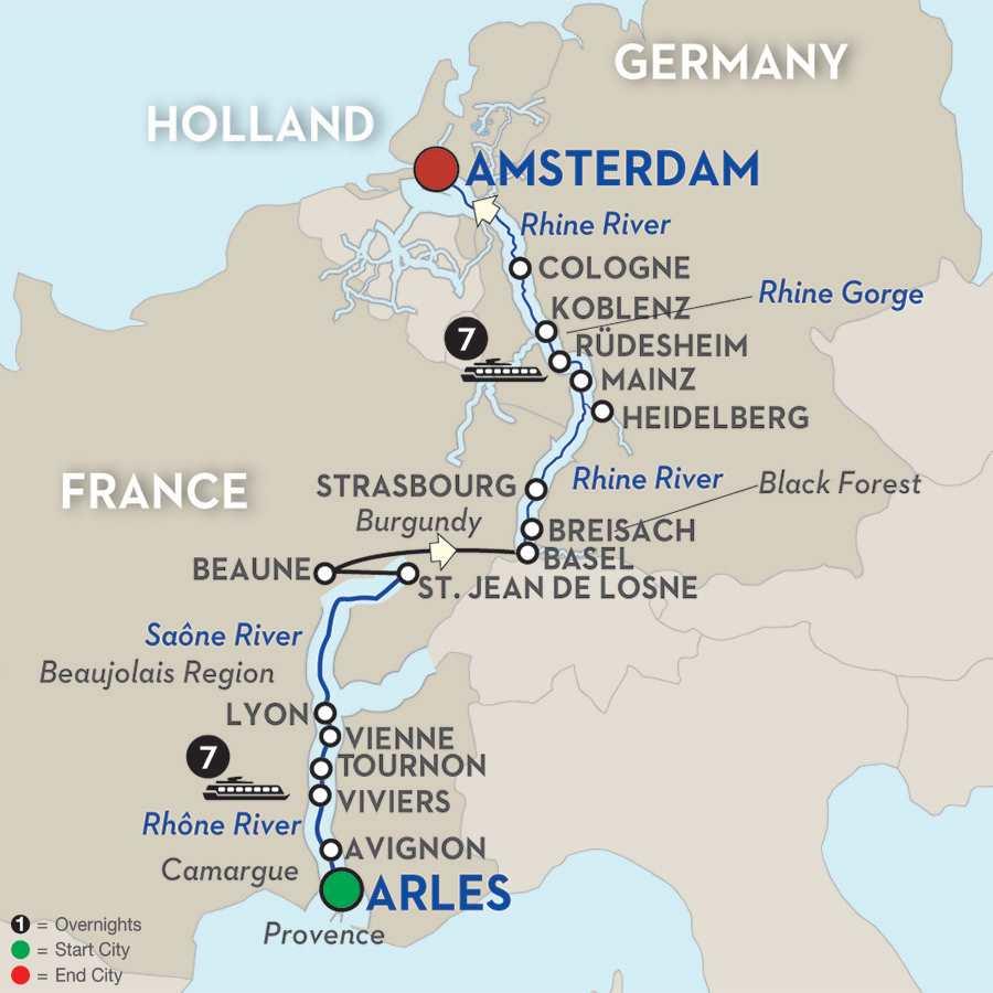 Rhine & Rhône Revealed – Cruise Only Northbound