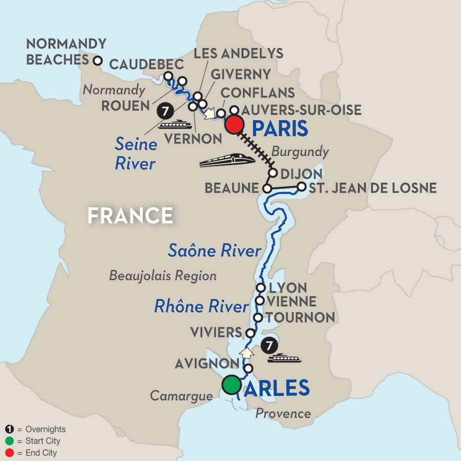 Grand France – Cruise Only Northbound