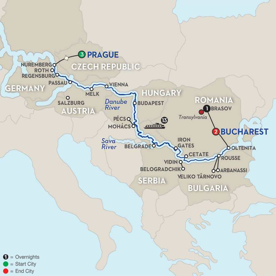 Grand Danube Cruise with Transylvania – Eastbound