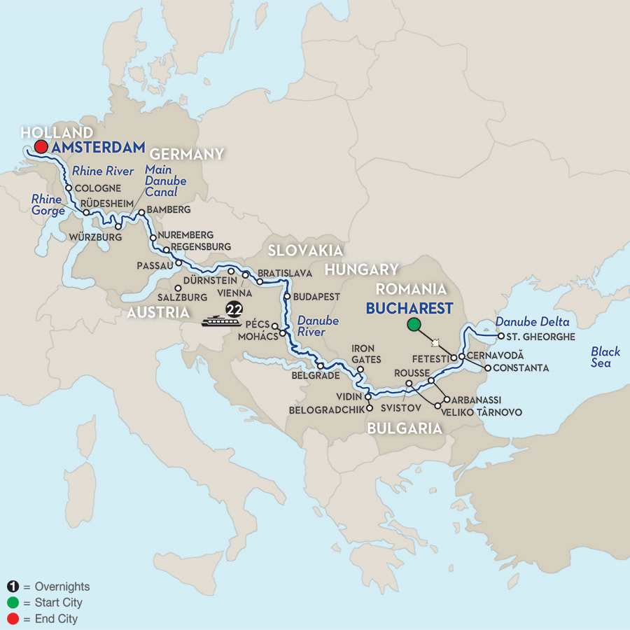 From the Black Sea to the North Sea – Cruise Only Westbound
