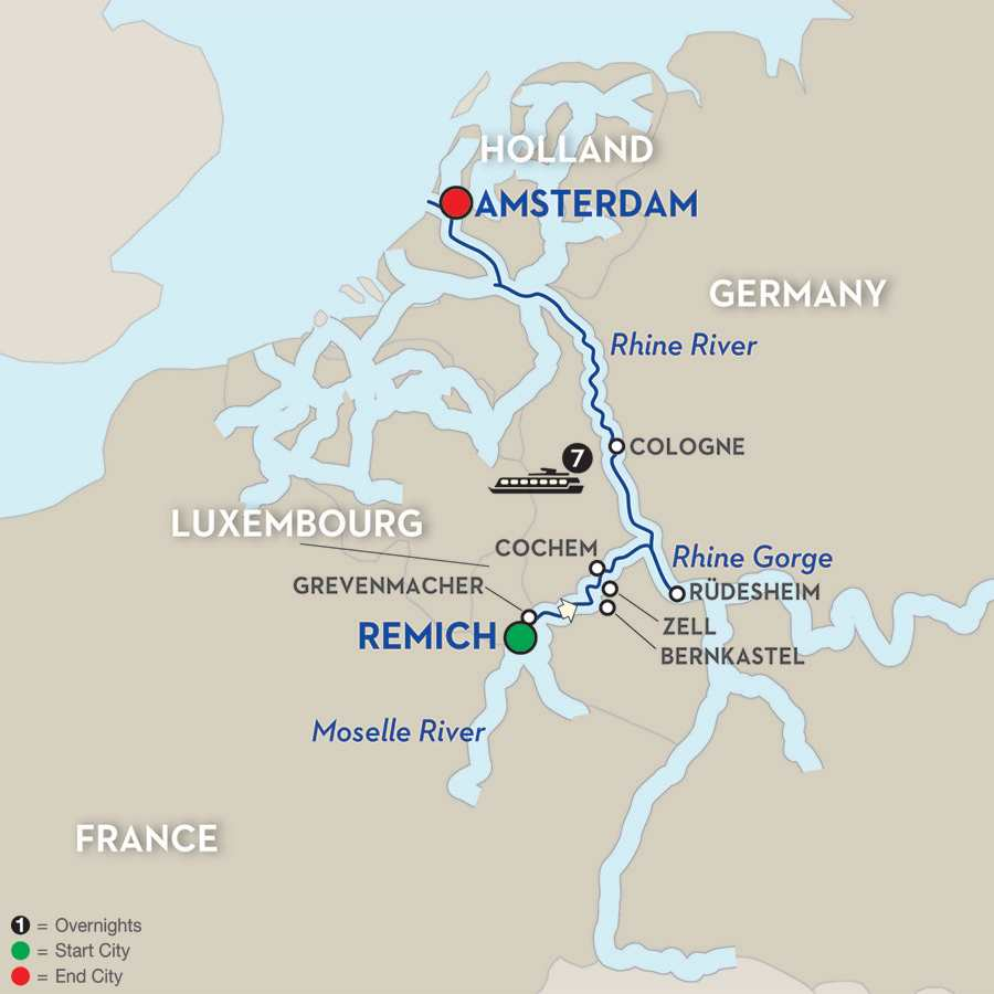 Canals, Vineyards & Paris – Cruise Only Northbound