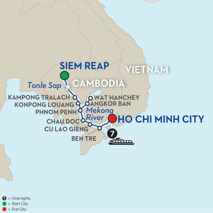 Fascinating Vietnam, Cambodia & the Mekong River Cruise Only – Southbound