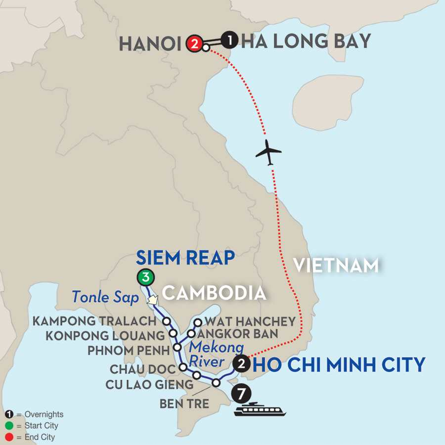 Fascinating Vietnam, Cambodia & the Mekong River with Hanoi & Ha Long Bay – Southbound