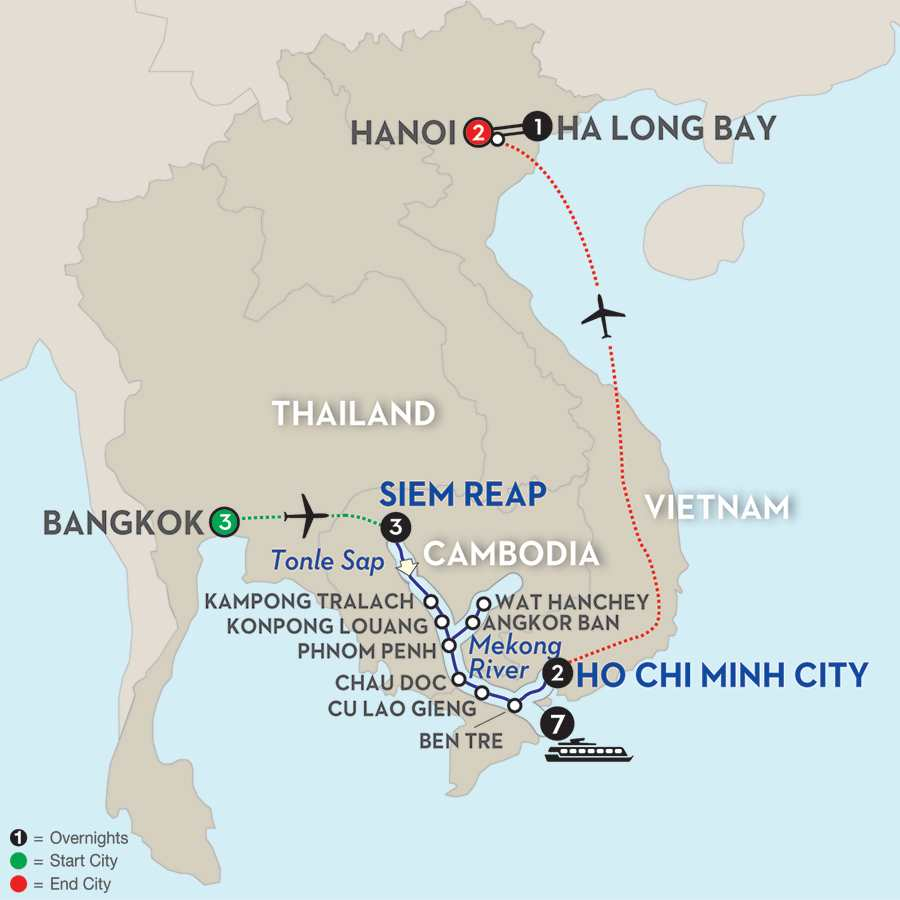 Fascinating Vietnam, Cambodia & the Mekong River with Bangkok, Hanoi & Ha Long Bay – Southbound