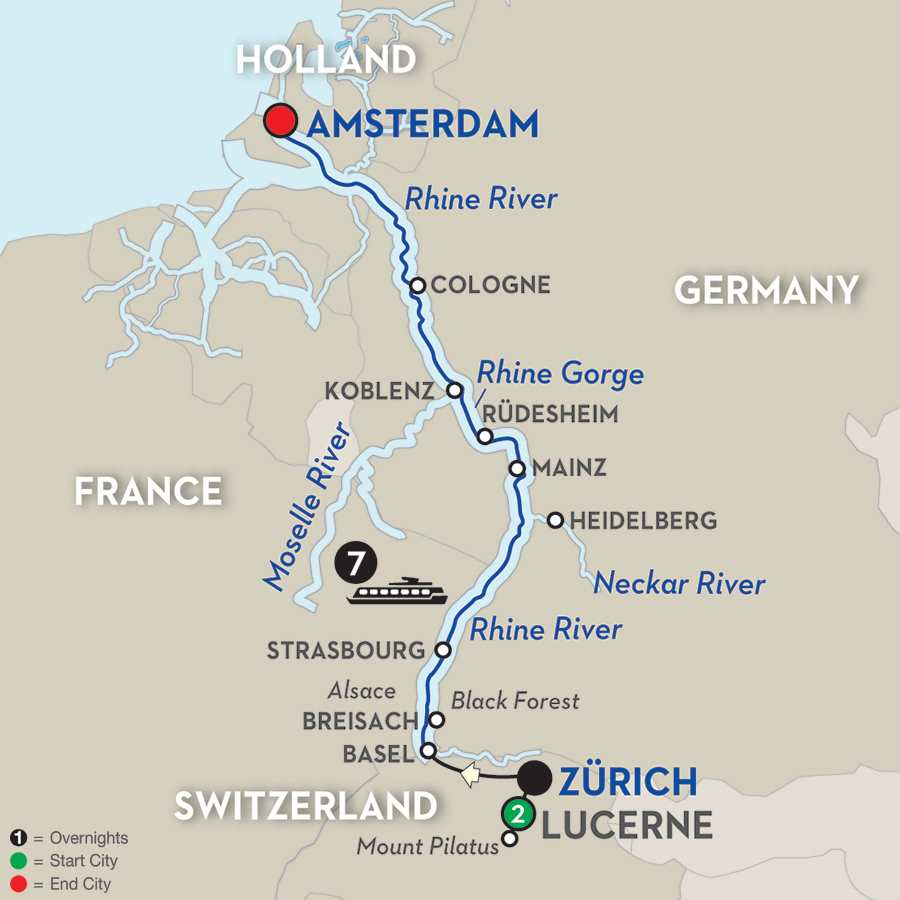 Festive Time on the Romantic Rhine with Lucerne Extension – Northbound