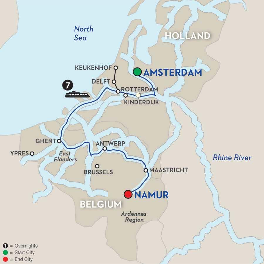 Enchanting Belgium – Cruise Only Southbound