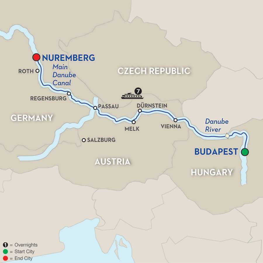 Festive Time on the Blue Danube Discovery - Cruise Only