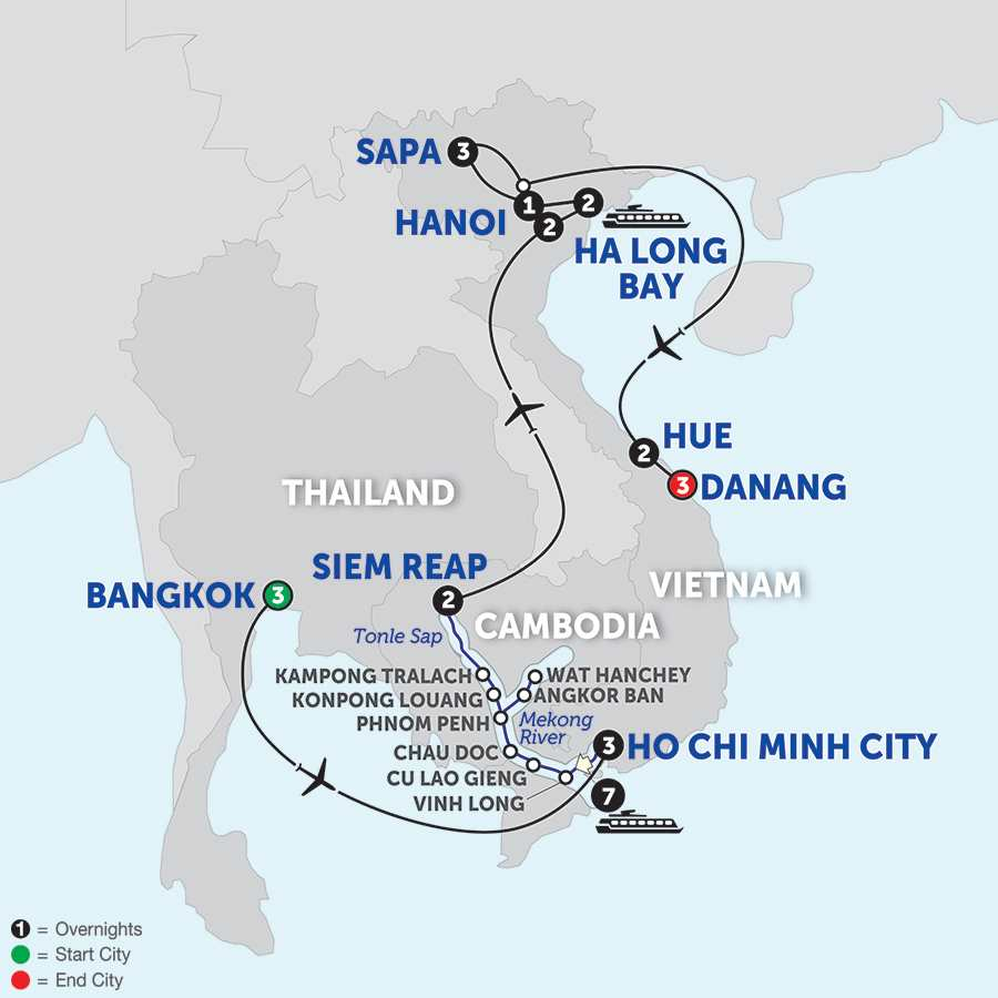 Ultimate Southeast Asia & The Majestic Mekong with Sapa, Hue & Danang - Northbound
