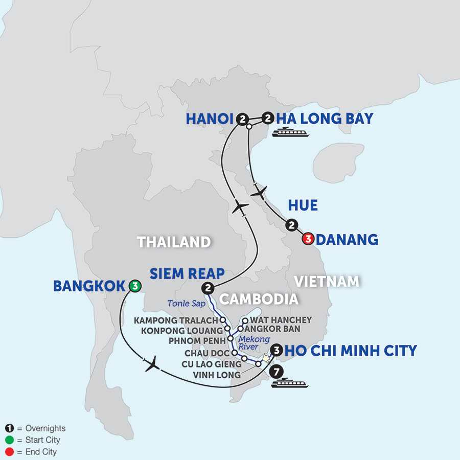 Ultimate Southeast Asia & The Majestic Mekong with Hue & Danang - Northbound