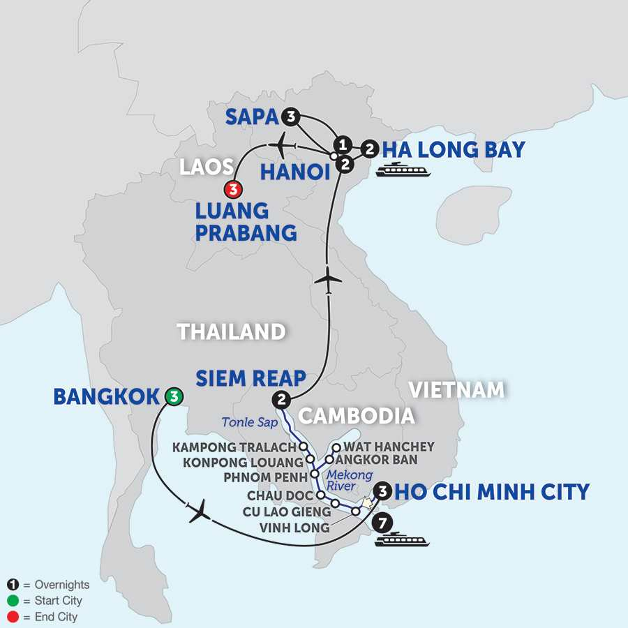 Ultimate Southeast Asia & The Majestic Mekong with Sapa & Luang Prabang - Northbound