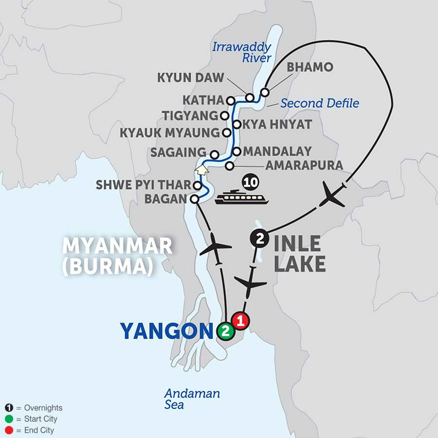 Spirit of Myanmar & the Untouched Upper Irrawaddy - Northbound