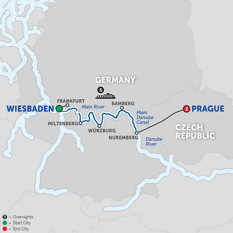 German River Cruises Avalon Waterways - Germany map of rivers