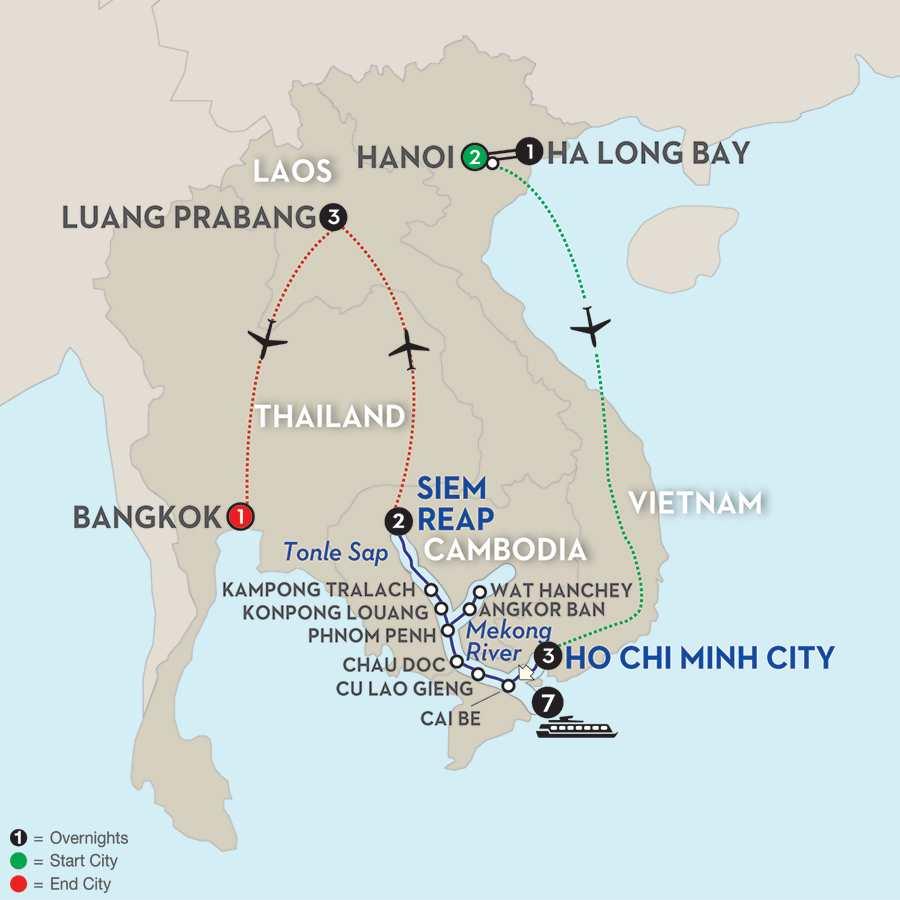 Fascinating Vietnam, Cambodia & the Mekong River with Hanoi, Ha Long Bay & Luang Prabang – Northbound