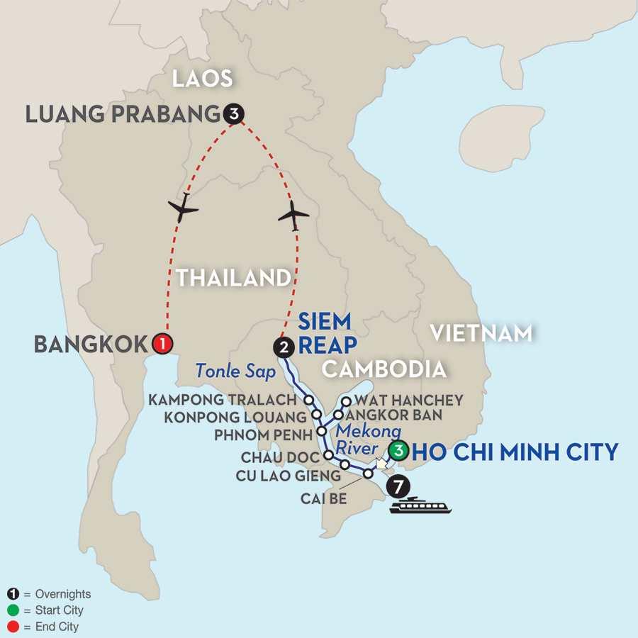 Fascinating Vietnam, Cambodia & the Mekong River with Luang Prabang – Northbound