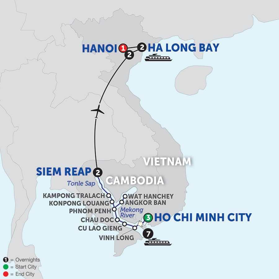 The Heart of Cambodia & Vietnam - Northbound