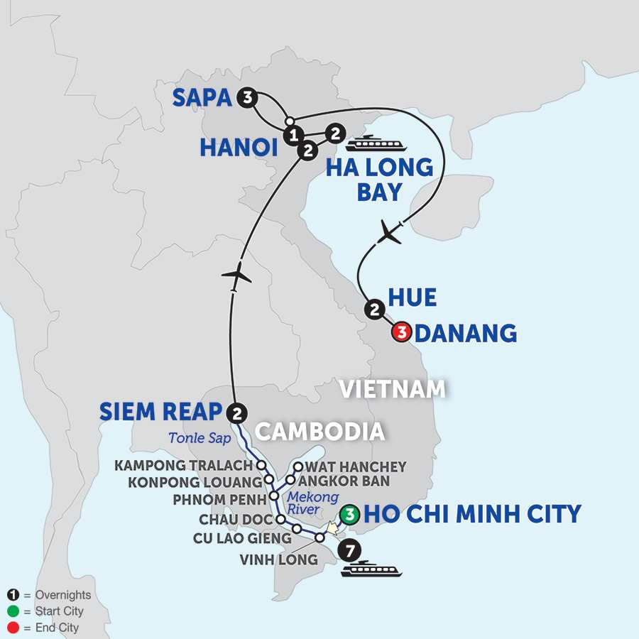 The Heart of Cambodia & Vietnam with Sapa, Hue & Danang - Northbound
