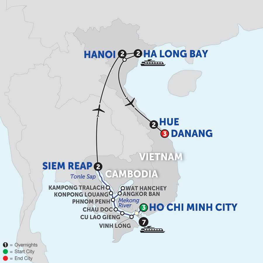 The Heart of Cambodia & Vietnam with Hue & Danang - Northbound
