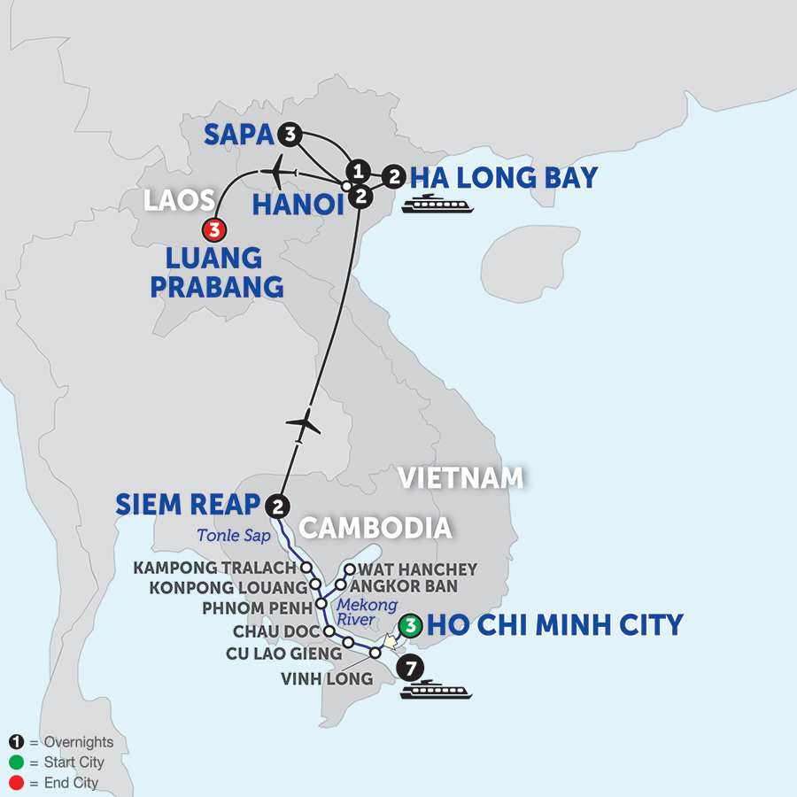 The Heart of Cambodia & Vietnam with Sapa and Luang Prabang - Northbound