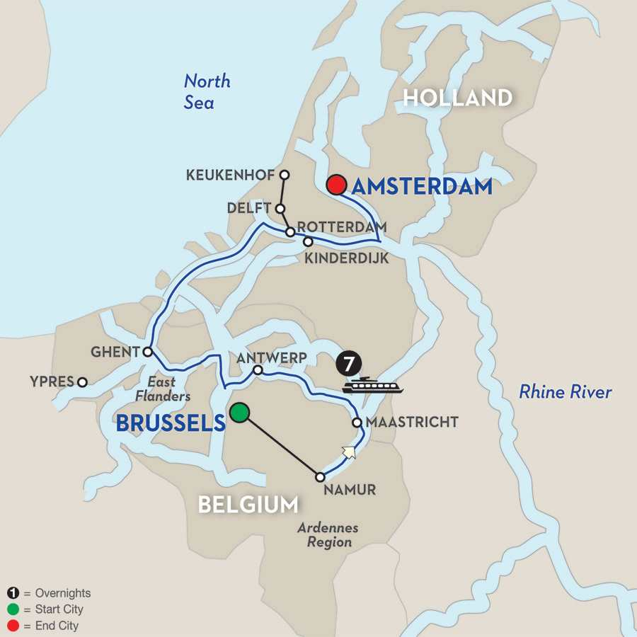 Enchanting Belgium – Cruise Only Northbound