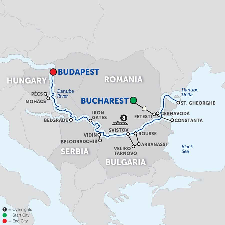 The Danube from the Black Sea to Budapest – Cruise Only Westbound