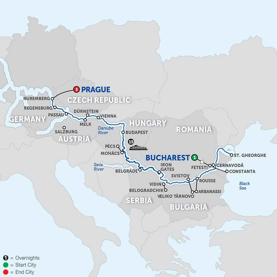 From the Danube Delta to Prague - Westbound