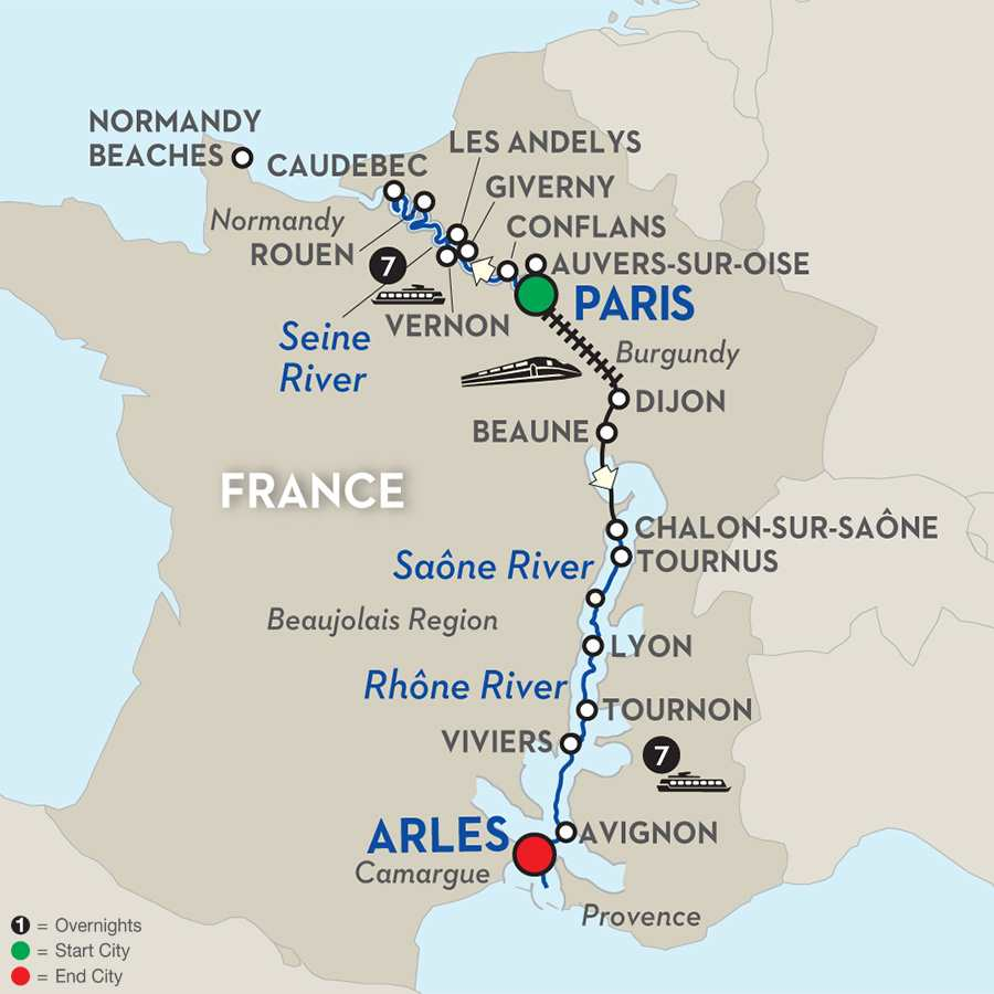 Art & Impressionist Discovery in Grand France - Cruise Only