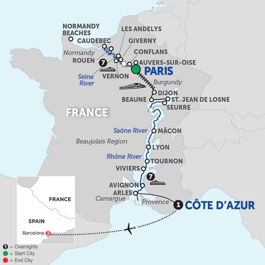 Grand France with Barcelona - Southbound