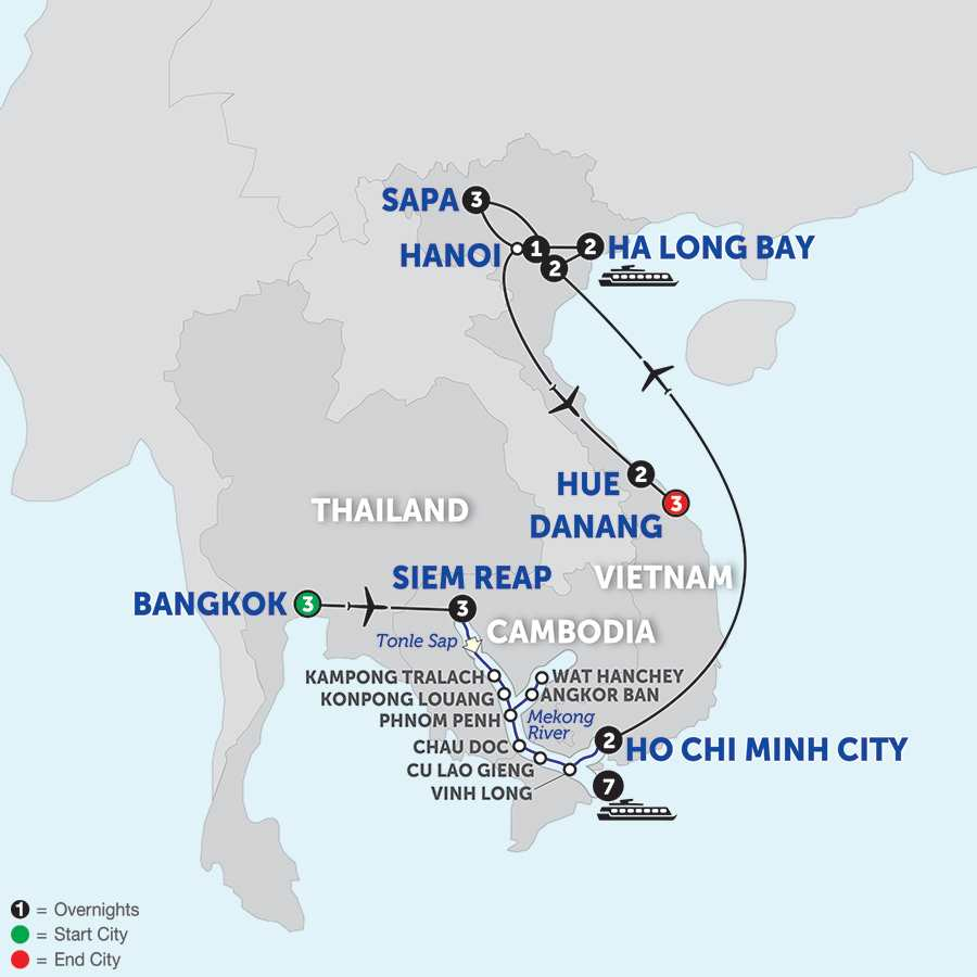 Ultimate Southeast Asia & The Majestic Mekong with Sapa, Hue & Danang - Southbound