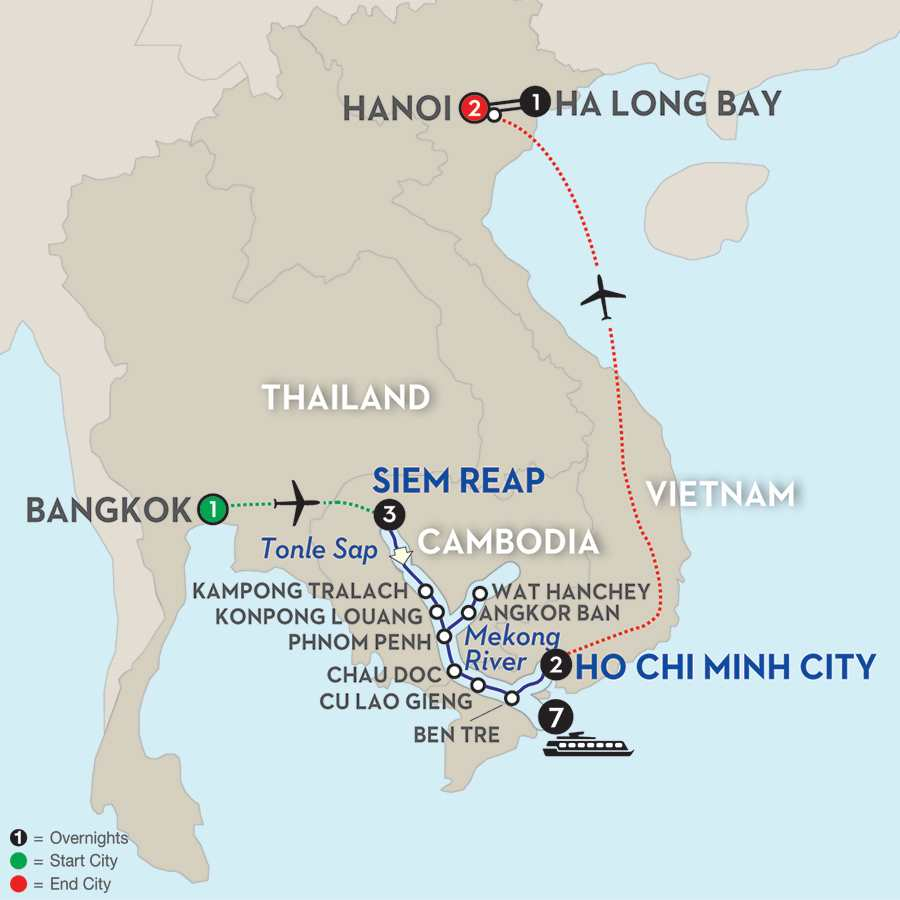 Fascinating Vietnam, Cambodia & the Mekong River with Bangkok, Hanoi & Ha Long Bay – Southbound