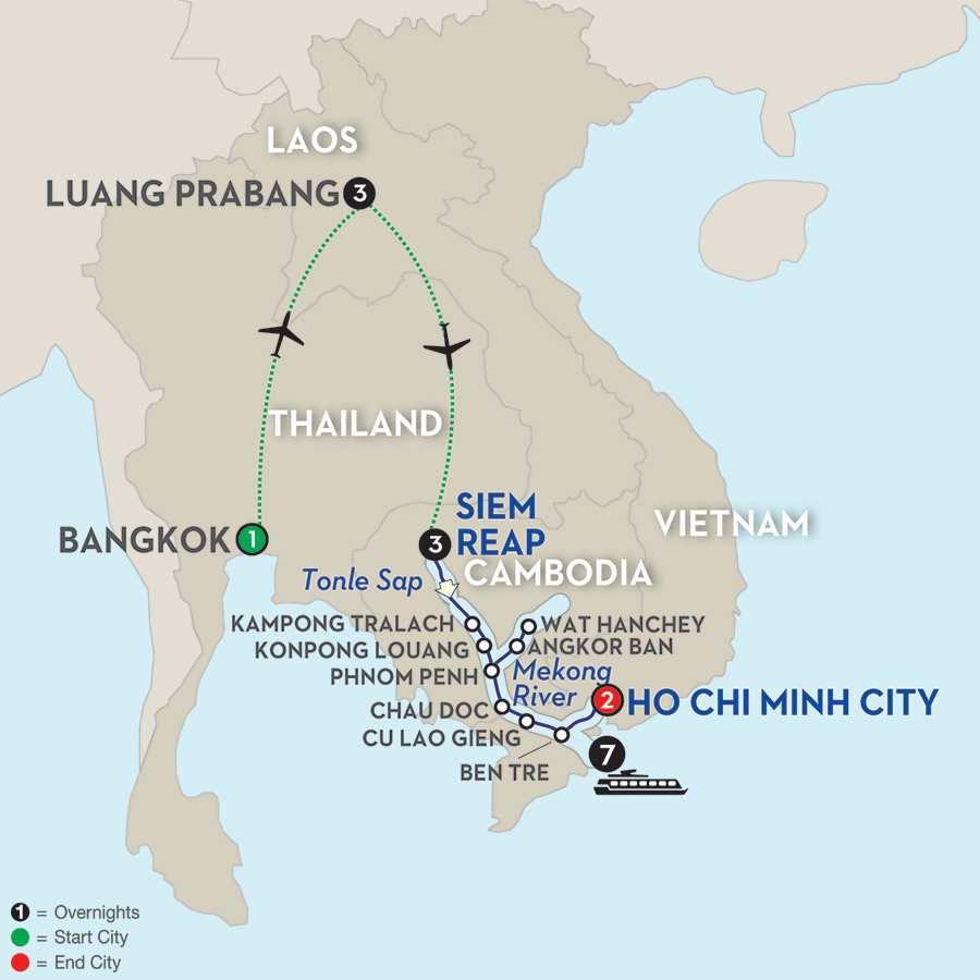 Fascinating Vietnam, Cambodia & the Mekong River with Luang Prabang – Southbound