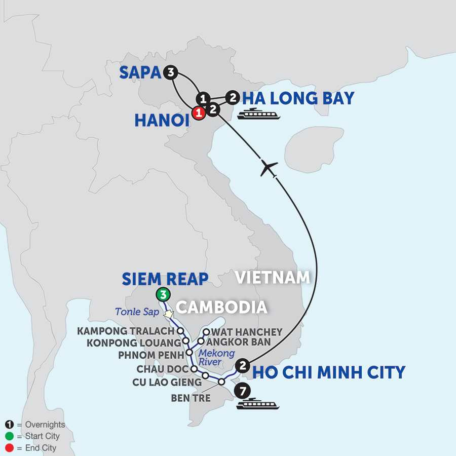 The Heart of Cambodia & Vietnam with Sapa - Southbound