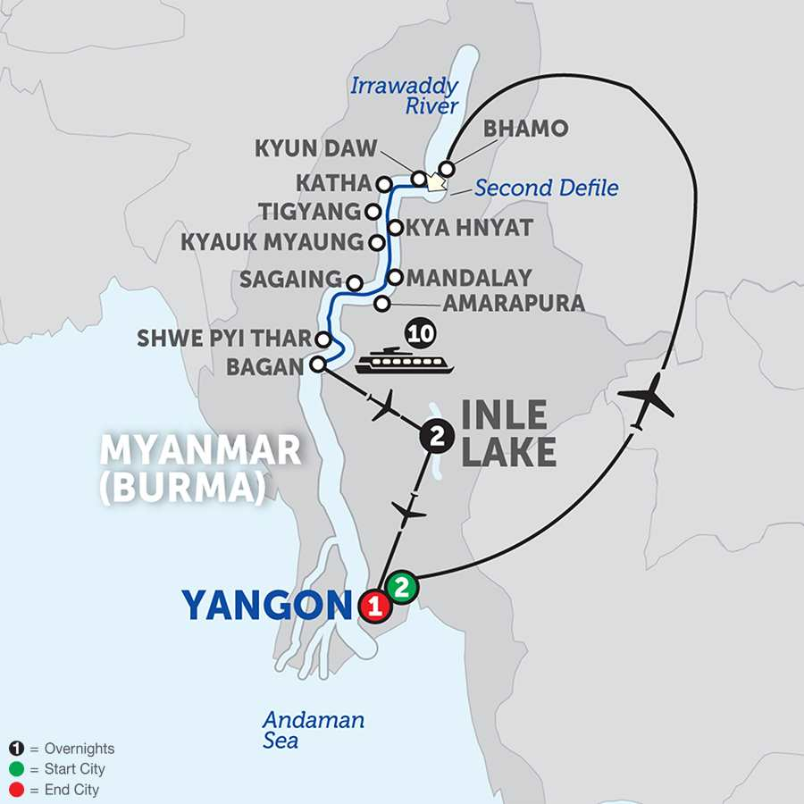 Spirit of Myanmar & the Untouched Upper Irrawaddy - Southbound
