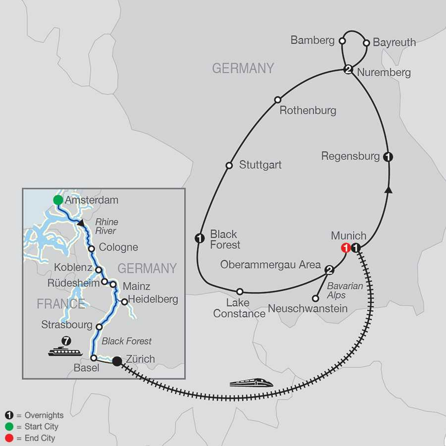 Romantic Rhine with Bavarian Highlights