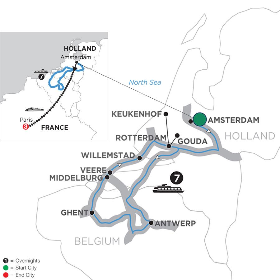 Tulip Time Cruise with 3 Nights Paris