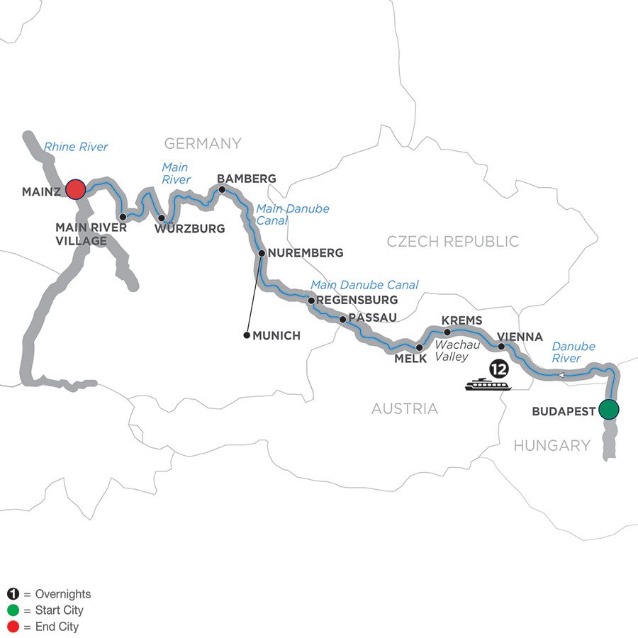 Christmastime Budapest to Wiesbaden – Cruise Only