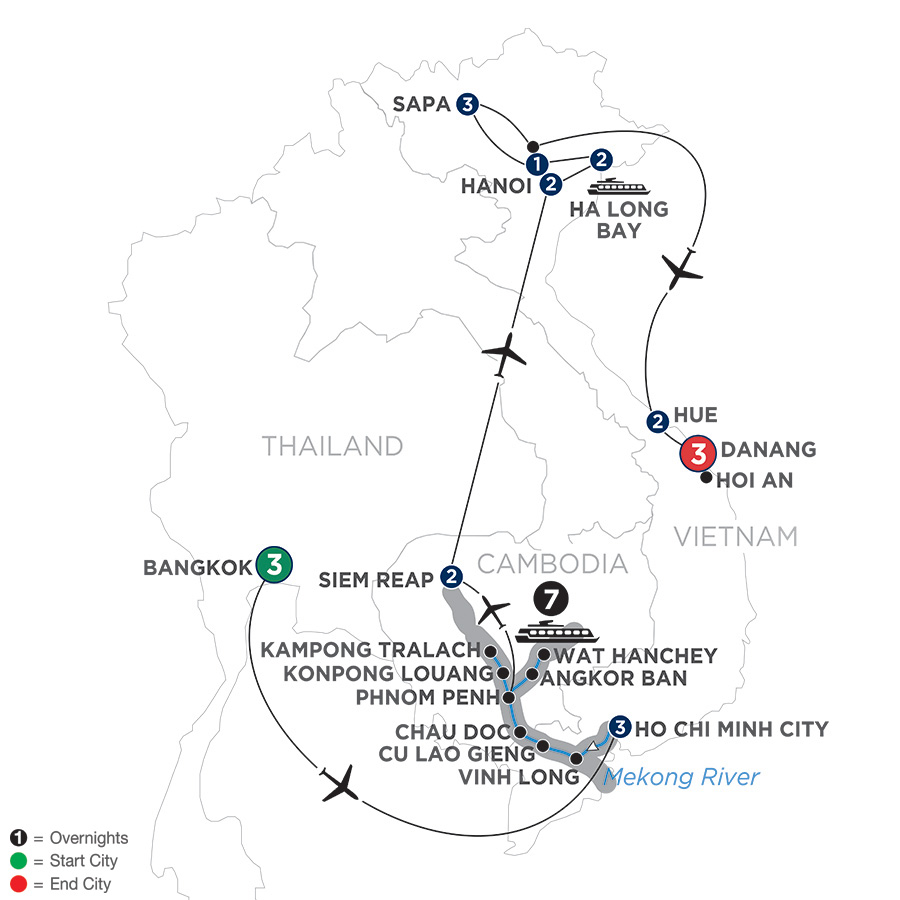 Ultimate Southeast Asia & The Majestic Mekong with Sapa, Hue & Danang – Northbound
