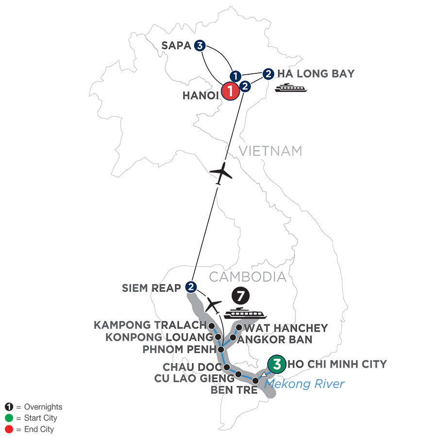 The Heart of Cambodia & Vietnam with Sapa – Northbound