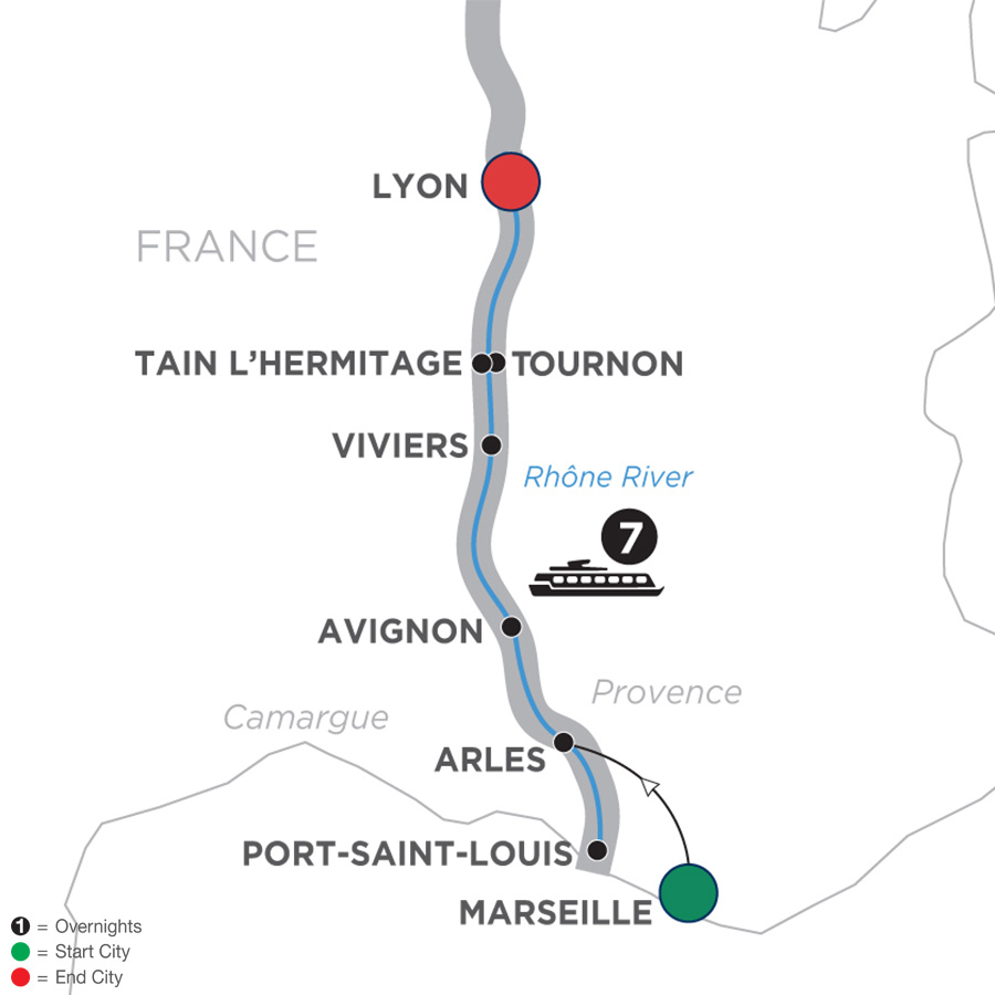 Active Discovery on the Rhône – Northbound