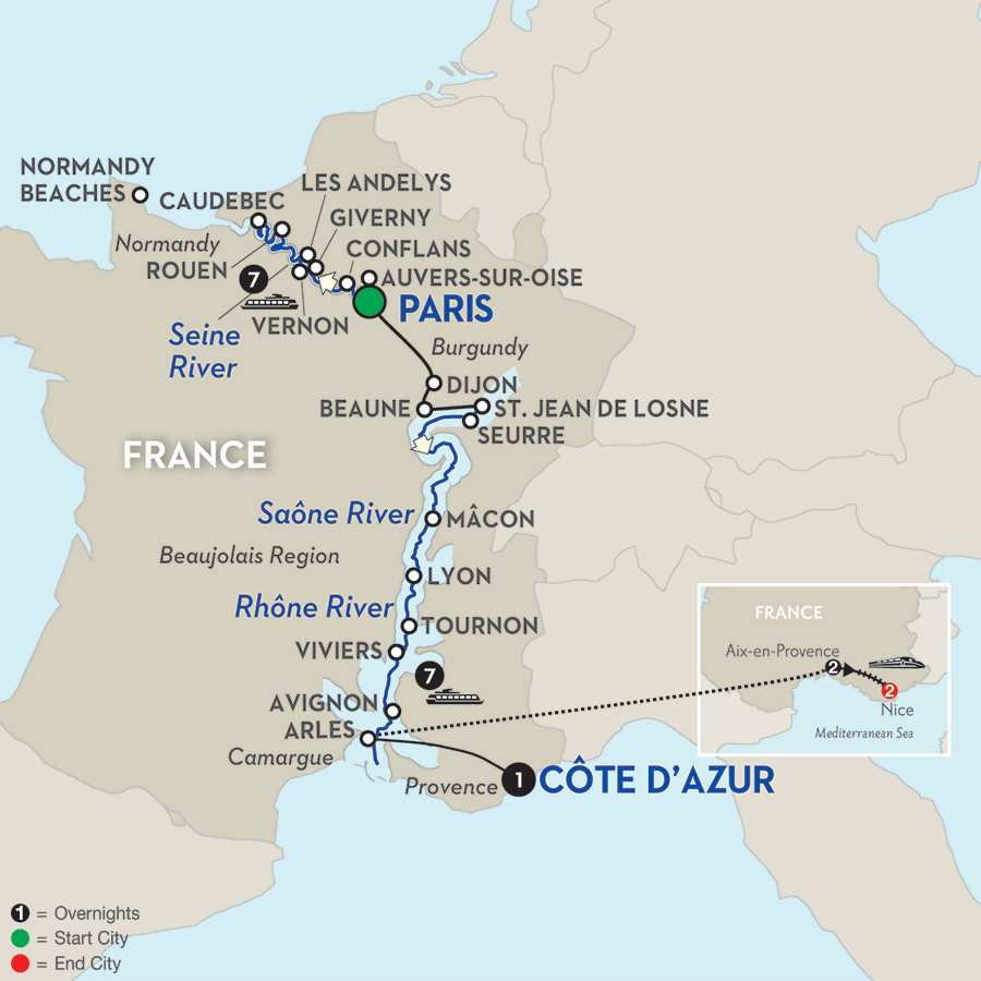 Grand France WWII Remembrance & History Cruise with 2 Nights Aix-en-Provence & 2 Nights Nice