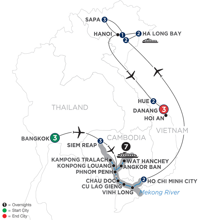 Ultimate Southeast Asia & The Majestic Mekong – with Sapa, Hue & Danang – Southbound